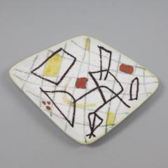 Guido Gambone A freeform ceramic plate with abstract decor - 1124008