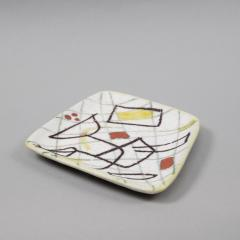Guido Gambone A freeform ceramic plate with abstract decor - 1124009