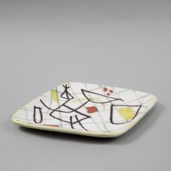 Guido Gambone A freeform ceramic plate with abstract decor - 1124011