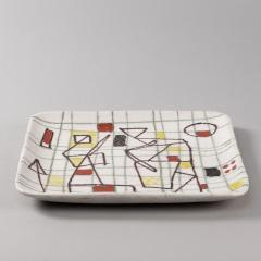 Guido Gambone Ceramic Freeform Plate by Guido Gambone Abstract Hand Painted Decor - 1145238