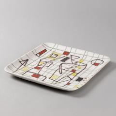 Guido Gambone Ceramic Freeform Plate by Guido Gambone Abstract Hand Painted Decor - 1145240