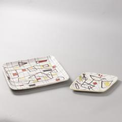 Guido Gambone Ceramic Freeform Plate by Guido Gambone Abstract Hand Painted Decor - 1145243