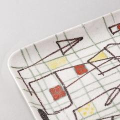 Guido Gambone Ceramic Freeform Plate by Guido Gambone Abstract Hand Painted Decor - 1145244