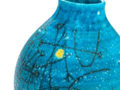 Guido Gambone Large 1950s Guido Gambone Esoteric Ceramic Vessel in Stunning Mediterranean Blue - 152507