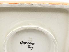 Guido Gambone Large striped wall plate or centerpiece - 761214