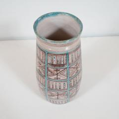 Guido Gambone Signed Guido Gambone Mid Century Modern Hand Painted Ceramic Vase - 1560343