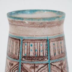 Guido Gambone Signed Guido Gambone Mid Century Modern Hand Painted Ceramic Vase - 1560352