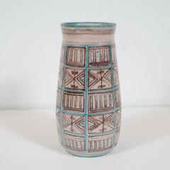 Guido Gambone Signed Guido Gambone Mid Century Modern Hand Painted Ceramic Vase - 1560355