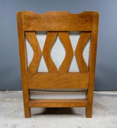 Guillerme et Chambron 1960s Guillerme et Chambron Oak and Boucl Armchair France - 2172758