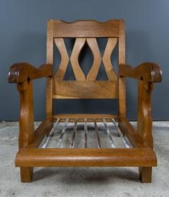 Guillerme et Chambron 1960s Guillerme et Chambron Oak and Boucl Armchair France - 2172762
