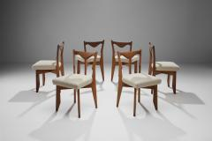 Guillerme et Chambron 6 Dinner Chairs by Guillerme et Chambron France 1960s - 1218554