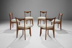 Guillerme et Chambron 6 Dinner Chairs by Guillerme et Chambron France 1960s - 1218555
