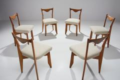 Guillerme et Chambron 6 Dinner Chairs by Guillerme et Chambron France 1960s - 1218559
