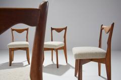 Guillerme et Chambron 6 Dinner Chairs by Guillerme et Chambron France 1960s - 1218560