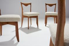Guillerme et Chambron 6 Dinner Chairs by Guillerme et Chambron France 1960s - 1218561