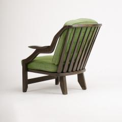 Guillerme et Chambron A French Guillerme et Chambron black oak armchair circa 1970 - 1685354