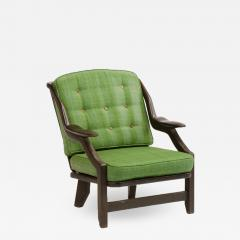 Guillerme et Chambron A French Guillerme et Chambron black oak armchair circa 1970 - 1685609
