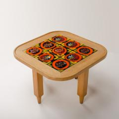 Guillerme et Chambron A French Guillerme et Chambron square oak coffee table with ceramic tile top - 1685362