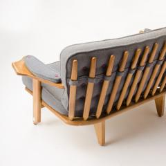 Guillerme et Chambron A French Guillerme et Chambron two seat carved oak settee 1960s - 1685335