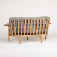 Guillerme et Chambron A French Guillerme et Chambron two seat carved oak settee 1960s - 1685344