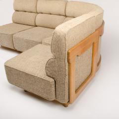 Guillerme et Chambron A four part sofa in solid oak by French designers Guillerme et Chambron - 1685337