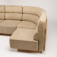 Guillerme et Chambron A four part sofa in solid oak by French designers Guillerme et Chambron - 1685340