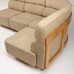 Guillerme et Chambron A four part sofa in solid oak by French designers Guillerme et Chambron - 1685341