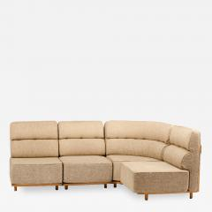 Guillerme et Chambron A four part sofa in solid oak by French designers Guillerme et Chambron - 1685607