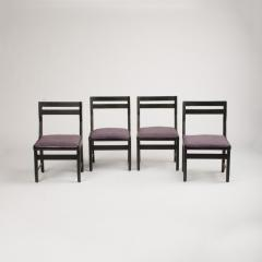Guillerme et Chambron A set of four French Guillerme et Chambron blackened oak chairs circa 1970 - 1685348