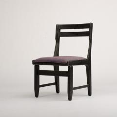 Guillerme et Chambron A set of four French Guillerme et Chambron blackened oak chairs circa 1970 - 1685349