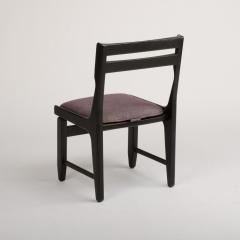 Guillerme et Chambron A set of four French Guillerme et Chambron blackened oak chairs circa 1970 - 1685350