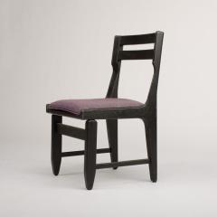 Guillerme et Chambron A set of four French Guillerme et Chambron blackened oak chairs circa 1970 - 1685351