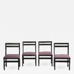 Guillerme et Chambron A set of four French Guillerme et Chambron blackened oak chairs circa 1970 - 1685608