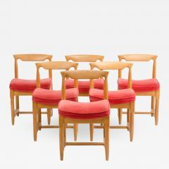 Guillerme et Chambron A set of six French Guillerme et Chambron dining chairs circa 1960 - 1662189