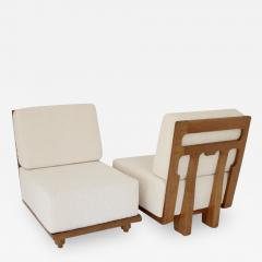 Guillerme et Chambron FRENCH GUILLERME ET CHAMBRON LOUNGE CHAIRS VOTRE MAISON MODEL ELMYRE - 1907279