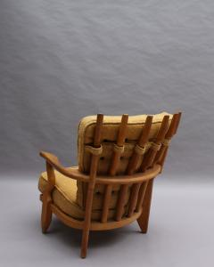 Guillerme et Chambron French 1950s Grand Repos Armchair by Guillerme et Chambron - 2004577