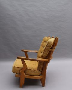 Guillerme et Chambron French 1950s Grand Repos Armchair by Guillerme et Chambron - 2004579
