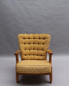 Guillerme et Chambron French 1950s Grand Repos Armchair by Guillerme et Chambron - 2004581