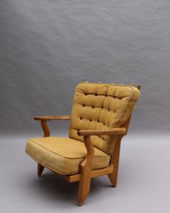 Guillerme et Chambron French 1950s Grand Repos Armchair by Guillerme et Chambron - 2004584