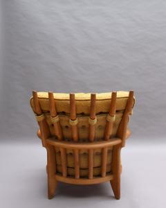 Guillerme et Chambron French 1950s Grand Repos Armchair by Guillerme et Chambron - 2004617