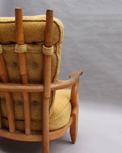 Guillerme et Chambron French 1950s Grand Repos Armchair by Guillerme et Chambron - 2004619