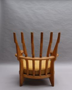 Guillerme et Chambron French 1950s Grand Repos Armchair by Guillerme et Chambron - 2004623