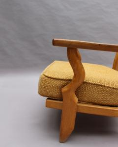 Guillerme et Chambron French 1950s Grand Repos Armchair by Guillerme et Chambron - 2004631