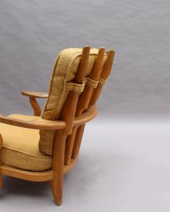Guillerme et Chambron French 1950s Grand Repos Armchair by Guillerme et Chambron - 2004669
