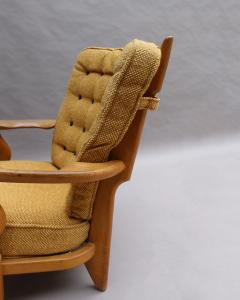 Guillerme et Chambron French 1950s Grand Repos Armchair by Guillerme et Chambron - 2004683