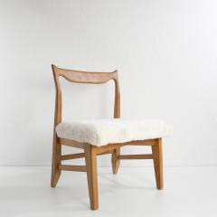 Guillerme et Chambron French Guillerme et Chambron Armless Chair Hungarian Oak Lambskin - 857781