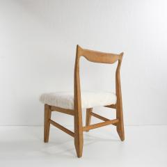 Guillerme et Chambron French Guillerme et Chambron Armless Chair Hungarian Oak Lambskin - 857786