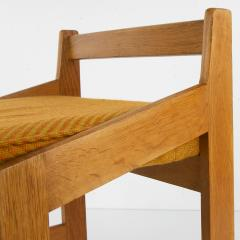 Guillerme et Chambron French Guillerme et Chambron Stool Hungarian Oak Wool - 874053