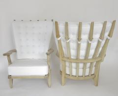 Guillerme et Chambron French Pair of Grand Repos Lounge Chairs by Guillerme et Chambron Votre Maison - 1117097