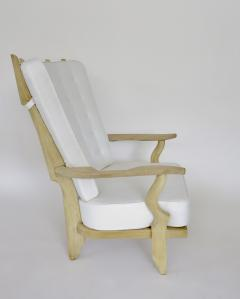 Guillerme et Chambron French Pair of Grand Repos Lounge Chairs by Guillerme et Chambron Votre Maison - 1117102
